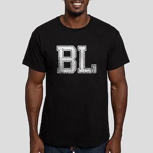 BL, Vintage Men's Fitted T-Shirt (dark)