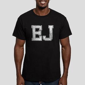 EJ, Vintage Men's Fitted T-Shirt (dark)