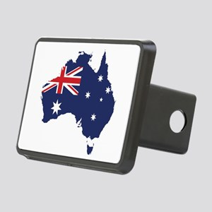 Flag Map of Australia Rectangular Hitch Cover