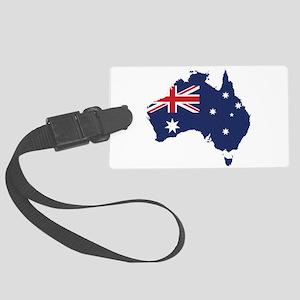 Flag Map of Australia Large Luggage Tag