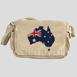 Flag Map of Australia Messenger Bag