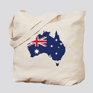 Flag Map of Australia Tote Bag