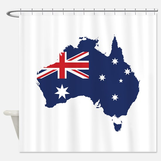 Flag Map of Australia Shower Curtain