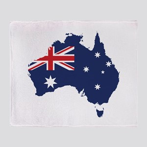 Flag Map of Australia Throw Blanket