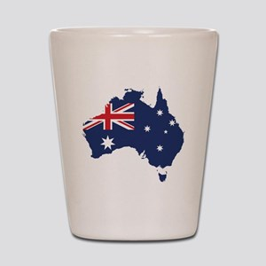 Flag Map of Australia Shot Glass