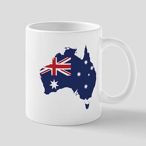 Flag Map of Australia Mug