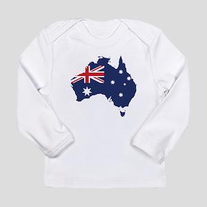 Flag Map of Australia Long Sleeve Infant T-Shirt