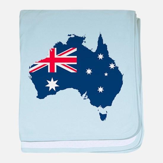 Flag Map of Australia baby blanket