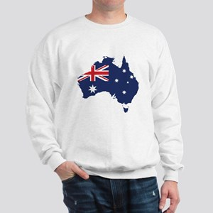 Flag Map of Australia Sweatshirt