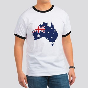 Flag Map of Australia Ringer T