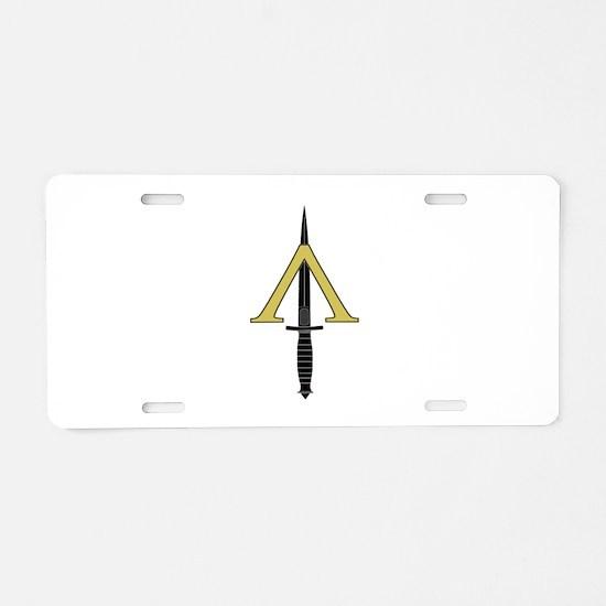 Shadow Warrior Aluminum License Plate
