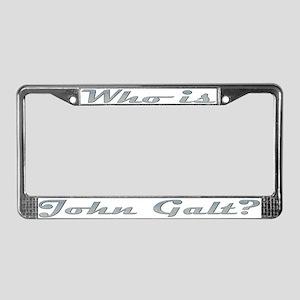 Who is John Galt 4 License Plate Frame