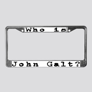 Who is John Galt? 2 License Plate Frame