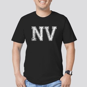 NV, Vintage Men's Fitted T-Shirt (dark)