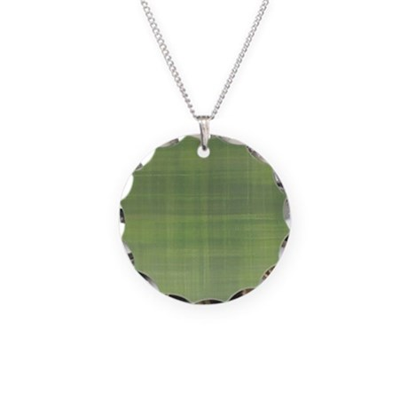 Plaid River Necklace Circle Charm