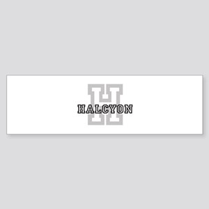 Halcyon (Big Letter) Bumper Sticker