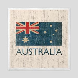 Vintage Australia Flag Queen Duvet
