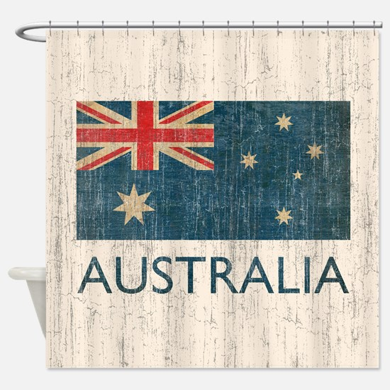 Vintage Australia Flag Shower Curtain