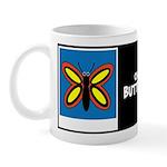 CALLA BUTTERFLY W/BIO ON BACK Mug