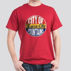 Kansas City Vintage Label Dark T-Shirt