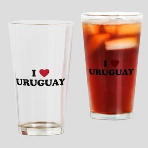 I Love Uruguay Drinking Glass