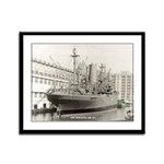 USS ALMAACK Framed Panel Print