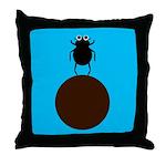 ELEANOR DUNG BEETLE Throw Pillow