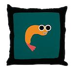LOOPY FRIED SHRIMP Throw Pillow