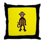 MONTGOMERY MONKEY Throw Pillow
