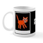 ORANGE KITTY W/BIO ON BACK Mug