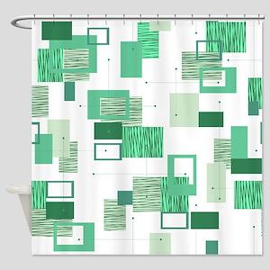 Makanahele Mid Century Modern 14 Shower Curtain