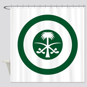 Saudi Arabia Roundel Shower Curtain