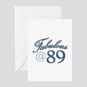 Fabulous at 89 Greeting Card