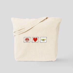 Peace Love & Virgin Islands Tote Bag