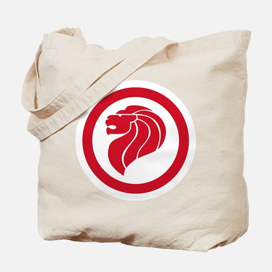 Singapore Lion Roundel Tote Bag