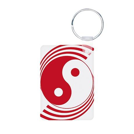 Singapore Yin Yang Roundel Aluminum Photo Keychain