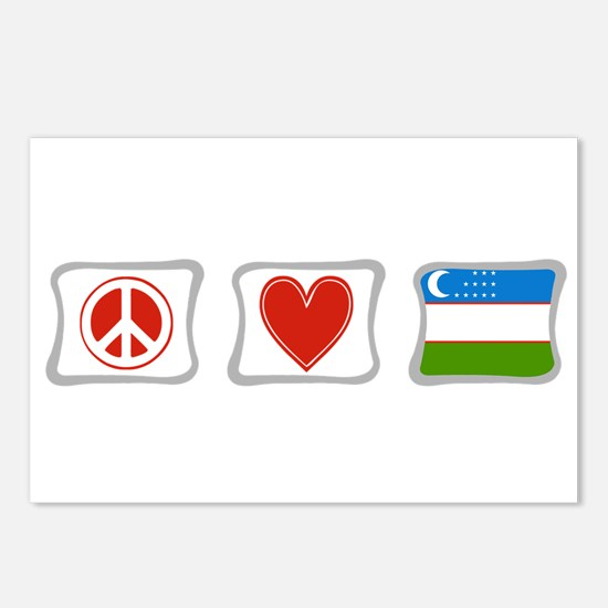 Peace Love and Uzbekistan Postcards (Package of 8)