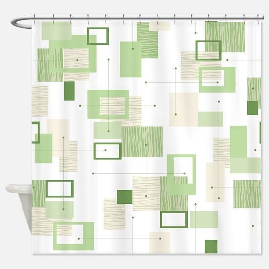 Makanahele Mid Century Modern 13 Shower Curtain