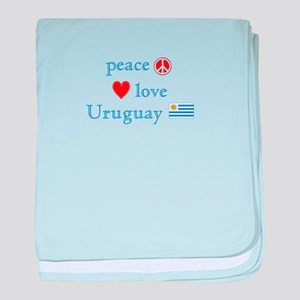 Peace Love and Uruguay baby blanket