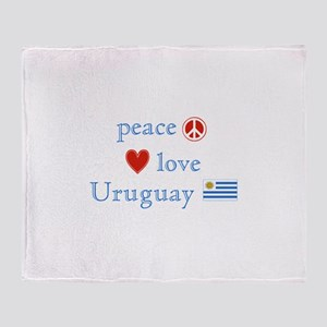 Peace Love and Uruguay Throw Blanket