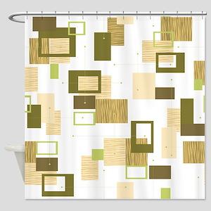 Makanahele Mid Century Modern 12 Shower Curtain
