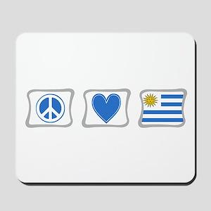 Peace Love and Uruguay Mousepad