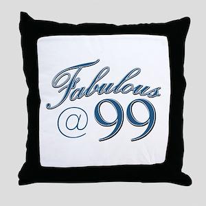 Fabulous at 99 Throw Pillow