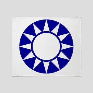 Taiwan Roundel Throw Blanket