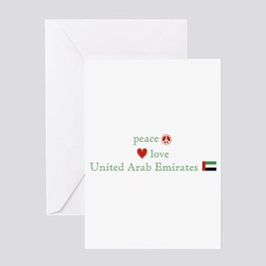 Peace Love and Emirates Greeting Card