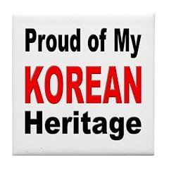 Proud Korean Heritage Tile Coaster
