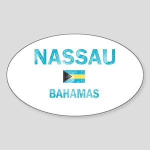 Nassau, Bahamas Designs Sticker (Oval)