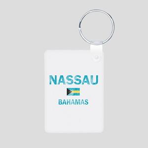 Nassau, Bahamas Designs Aluminum Photo Keychain