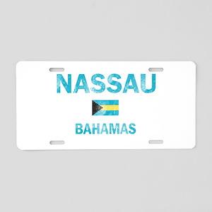 Nassau, Bahamas Designs Aluminum License Plate