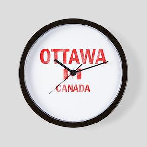 Ottawa Canada Designs Wall Clock